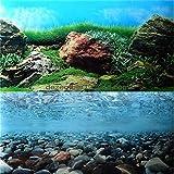 donau 12' 16' 20' 24' High Aquarium Background Poster Rock Ocean Double Sides Fish Tank Landscape...