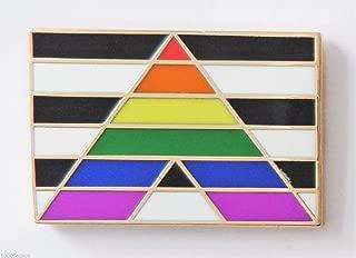 Straight Ally Pride Rainbow LGBT Flag Pin Badge