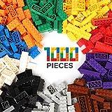WYSWYG Briques de Construction de 1000 Pièces, Building Bricks Block Ensemble de Blocs pour Enfants de 4 Ans Plus,Compatible avec Toutes Les Marques Principales, 10 Couleurs Classiques, 14 Formes