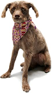 "Kess InHouse Jane Smith""Indian Jewelry Repeat"" Tan Pink Pet Bandana and Scarf, 28 by 20 by 20-Inch"