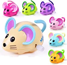 Bluelans Cute Cartoon Animal Rat Wind Up Toy Running Clockwork Mouse Baby Kids Gift for Kids Boys Girls Xmas Gifts Xmas Stocking Fillers Party Bag Gifts
