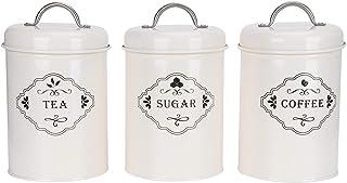 Bols à sucre stockage de cuisine 3 pièces/ensemble bocaux sucre café thé boîtes de rangement scellé alimentaire pour sucr...