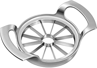 Thickened Apple Slicer Upgraded Version 12-Blade Extra Large Apple Corer, Stainless Steel Ultra-Sharp Apple Cutter for Up to 4 Inches Apples.Silver