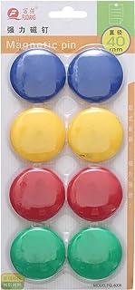 ازرار مغناطيسية ملونة Fq4008 ، 40 ملم – مجموعة 12 قطعة - 8 أقلام.