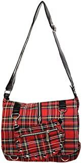 tartan messenger bag