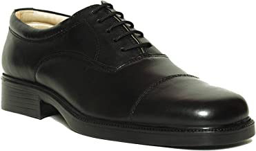 Liberty Shoes Black Oxford & Wingtip For Men