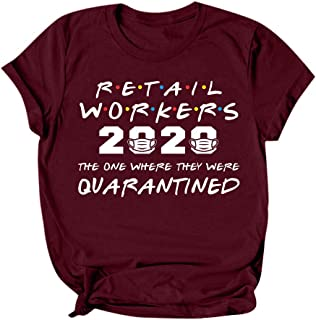 Women 2020 Letter Printed T-shirt Tops, Ladies O-neck Short Sleeve Shirt Blouse Tunic Pullover Top