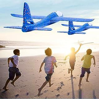 Flygplansleksaker, kasta skumplan, anti-kollision flygläge segelflygplan, utomhusgård familjespel flygande fest, gåvor för...
