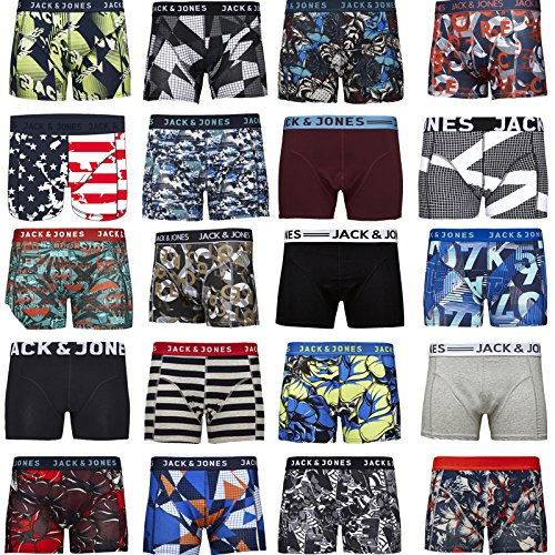 JACK & JONES Boxershorts 4er Pack Mix Trunks Boxer Short Unterhose , Mehrfarbig, L