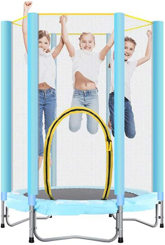 Cymbidy UK - Trampolin Trampoline 55-Zoll Kids Round Mini mit GehUse und Leistungsstarker Feder, Sicher Gepolstertem RüCkprallschutz, TragfHigkeit Bis zu 220 Pfund, Stabiler Stahlrahmen