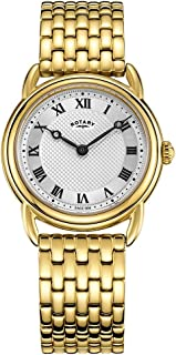Rotary Women's Canterbury Gold Bracelet Silver Dial LB05338/21