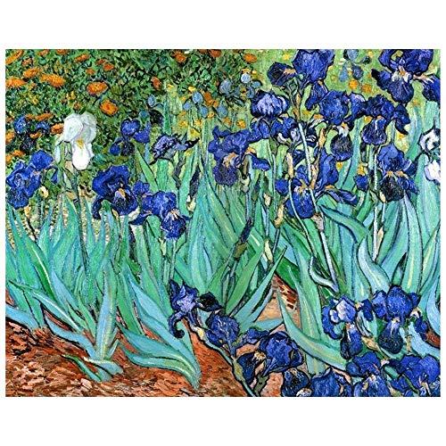 Legendarte Cuadro Lienzo, Impresión Digital - Lirios Vincent Van Gogh, cm. 80x100 - Decoración Pared
