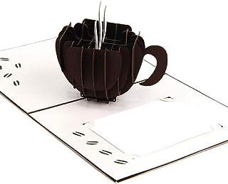 BC Worldwide Ltd fatto a mano 3D pop up birthday card Tazza di caffè cup San Valentino anniversario della festa della mamm...
