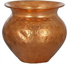 Designer Copper Puja Kalash (Small) - Copper