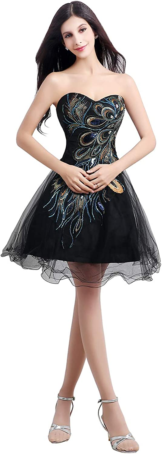 ANFF Women's Sweetheart Prom Dress Tulle Cocktail Party Dress Homecoming Dress