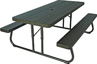 Lifetime 60110 6Ft Woodgrain FLD Picnic Table