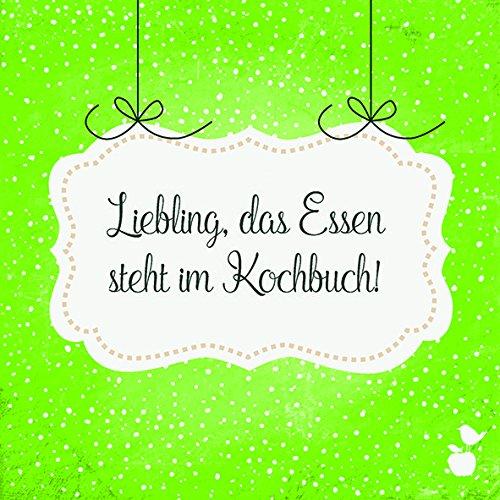 20 Servietten lustige Sprüche - Kochbuch 33x33cm