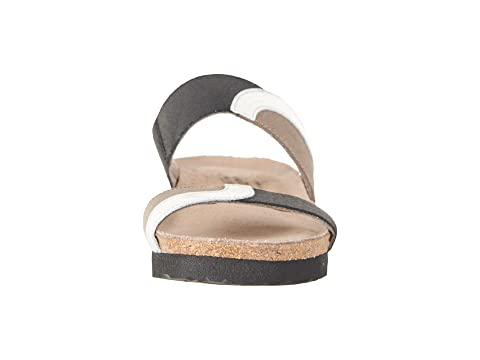 Black Silver Frankie Naot Mirror Patina Stretch Gloss Elastic Khaki Leather 67wv5