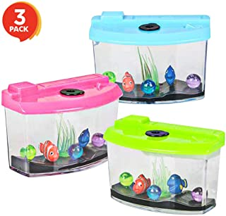 ArtCreativity 3 Inch Growing Aquarium Toy for Kids - Set of 3 - Fish Grow 5X Bigger in Water - Fun Expanding Animals - Best Gift Idea, Birthday Party Favor for Boys and Girls - Assorted Neon Colors