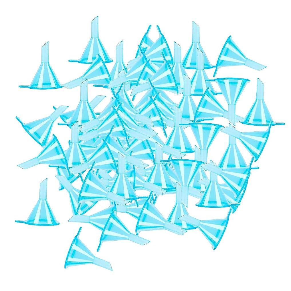 気づかないミケランジェロポンペイgazechimp ファンネル 漏斗 エッセンシャルオイル 香水ボトルのため 全100点 3カラー選ぶ - ブルー