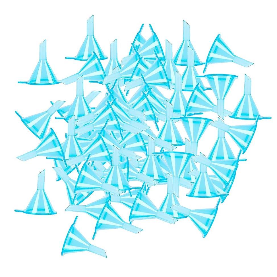 呼吸するやさしく残忍なgazechimp ファンネル 漏斗 エッセンシャルオイル 香水ボトルのため 全100点 3カラー選ぶ - ブルー