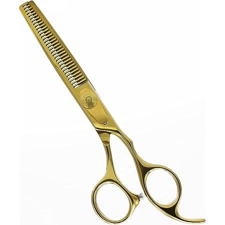Equinox Professional Razor Edge Series - Barber Hair Thinning/Texturizing Scissors/Shears - 6.5 Inches (Liquid Gold)
