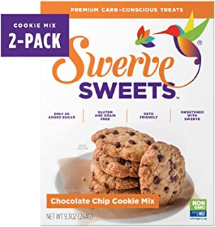 Swerve Sweets, Chocolate Chip Cookie Mix, 9.3 ounces (Pack of 2)