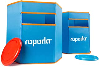 ROPODA Sports Folding Disc Slam - Durable, Weather Resistant Material - Toss Dunk Game Set Includes 2 Disc Slam Targets and 2 Flying Disc