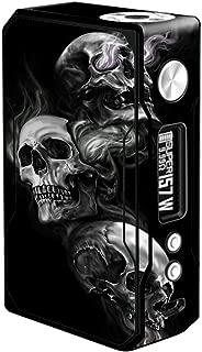 Skin Decal Vinyl Wrap for Voopoo Drag 157W TC Resin/Reg. Vape Mod stickers skins cover/ glowing Skulls in Smoke
