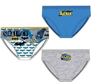 Suncity Slip Batman DC Comics Paquete de 3 Calzoncillos para niño Talla 2/3años