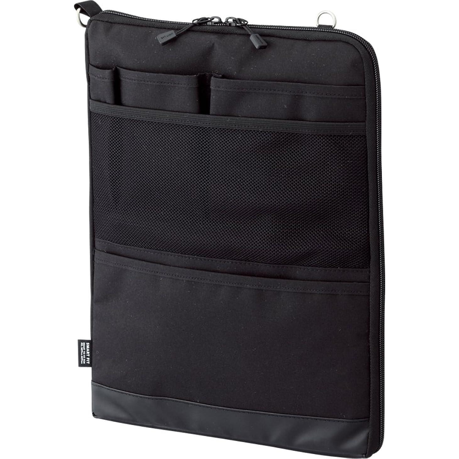 リヒトラブ バッグインバッグ スマートフィット アクタクト A4タテ ブラック A7683-24