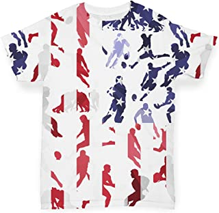 TWISTED ENVY Baby T Shirts USA Rugby Collage