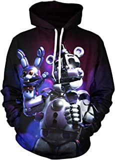Five Nights at Freddy's Bear Kids Hoodie T Shirts Summer Tops Tee Shirts for Boys Girls