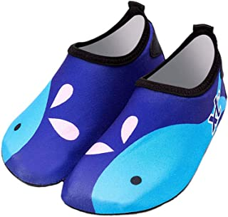 BESPORTBLE, Los niños nadan los zapatos de agua antideslizantes de secado rápido pies descalzos calcetines de la piscina zapatos para niños y niñas pequeños (azul, 26-27 adecuado para pies largos 14.9-15.6)