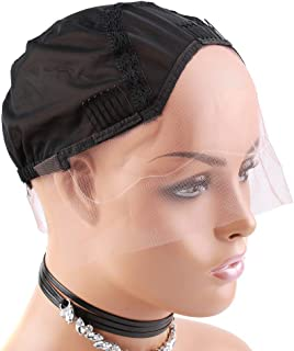 [Upgraded] Bella Hair Ventilated Lace Front Wig Cap for Black Women Making Wigs with Adjustable Straps and Combs, Black Medium Size