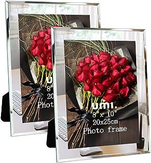 UMI. Essentials - Marco de Fotos de Cristal para Sobremesa 20 x 25 cm Juego de 2