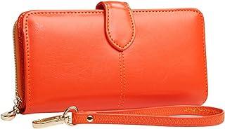 Wiwsi Women PU Leather Clutch Zipper Wallet Long Handbag New Purse Bags 5 Colors