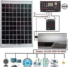 grfamily 800W Solar Power System Solar Panel Kit: 1pcs Solar Panel + 1pcs Inverter + 1pcs Controller + 1pcs Inverter Power Cord