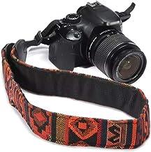 SYGA 1 Piece Orange Coloured DSLR Camera Shoulder Strap