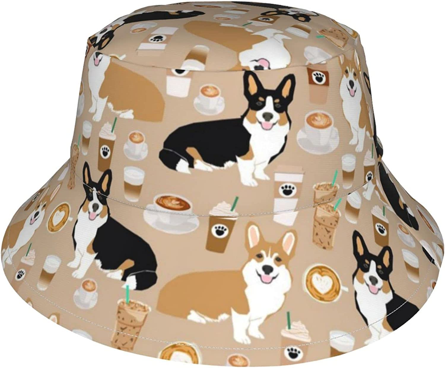 Baby Sun hat Corgis Louisville-Jefferson County Mall Coffee Protective Super beauty product restock quality top! UPF 50+ Toddler Bucket