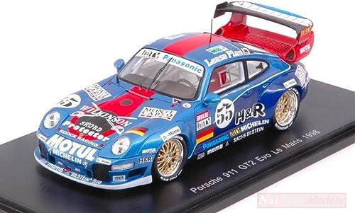 todos los bienes son especiales Spark Model S5513 Porsche 911 GT2 N.55 N.55 N.55 DNF LM 1996 JARIER-Pareja-CHAPPEL 1 43 Compatible con