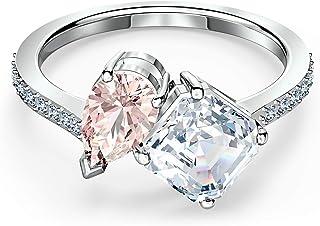 Swarovski Attract Soul Rhodium Plated Ring Pinks - Size 7