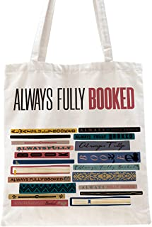 Ihopes Always Fully Booked Reusable Tote Bag | Funny Library Cotton Canvas Tote Bag School Bag Book Lovers Gift for Bookwo...