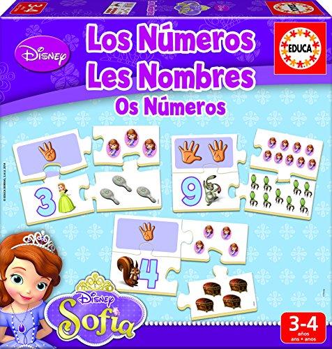Educa Borrás Princesa Sofía - Aprendo Los Números, Juego Educativo 16233