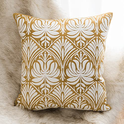 2 Pcs Cotton Cushion Cover,Pattern Embroidery Series Pattern Throw Pillow Cases,Decorate Lumbar Pillow Case,for Family Beds And Sofas 45 *45 Cm.(Contains pillow core)