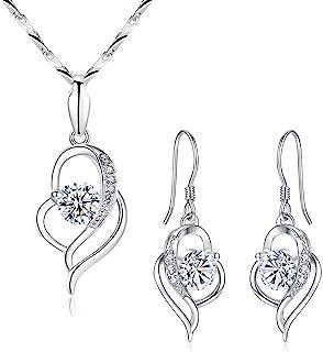 Beydodo Butterfly Earrings Dangling Earrings for Wedding Party Pearl Butterfly Round White Cubic Zirconia