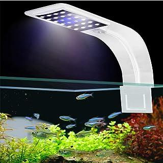 Womdee Lámpara de Acuario LED, LED Clip Acuario luz Clip en el Tanque de Peces
