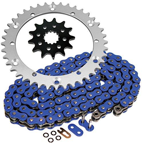 Caltric O-Ring Blue Drive Chain & Sprockets Kit Compatible with Yamaha Raptor 660 Yfm660R Yfm-660R 2001-2005