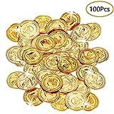 Monedas Piratas, 100 Piezas Monedas Pirata Monedas de Oro Plástico...