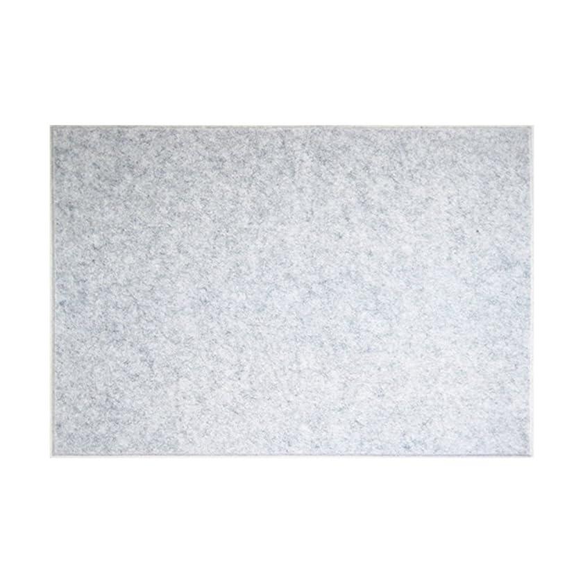 より良いピストルマウント【賃貸でも安心】ピンで取り付け可能な 壁面「吸音」フェルトパネル 45度カット 80×60cm - グレー - 1枚 フェルメノン FB-8060C-GY
